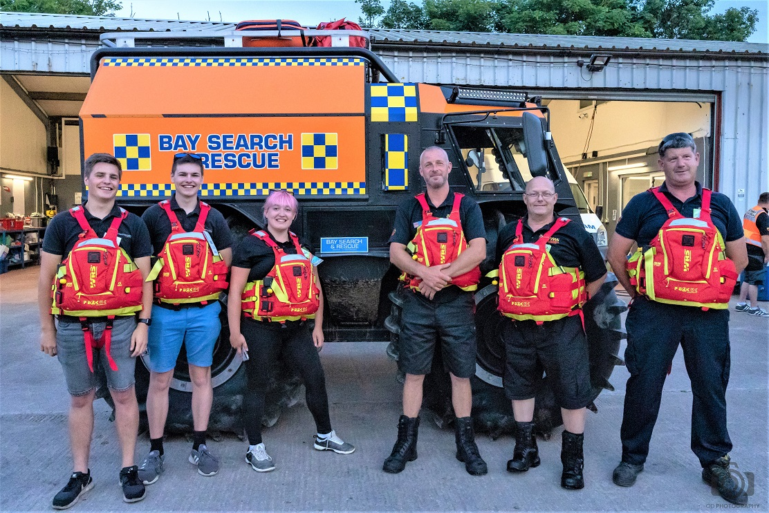 The new flotation devices presented to Bay Search and Rescue by Like Technologies