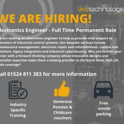Electronics engineer job vacancy in Lancaster